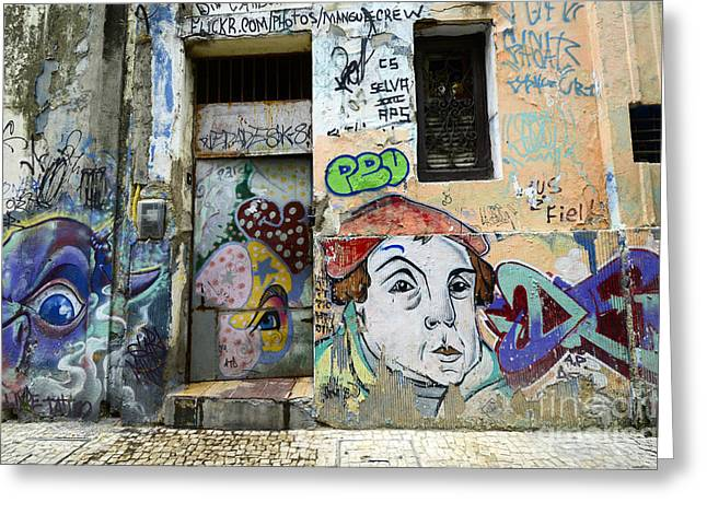 Urban Images Greeting Cards - Graffiti Art Recife Brazil 16 Greeting Card by Bob Christopher