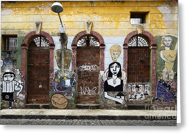 Urban Images Greeting Cards - Graffiti Art Recife Brazil 20 Greeting Card by Bob Christopher