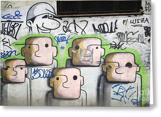 Urban Images Greeting Cards - Graffiti Art Rio De Janeiro 5 Greeting Card by Bob Christopher