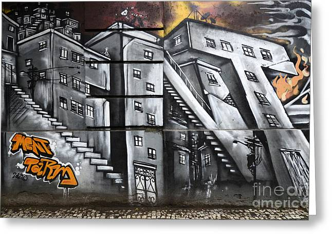 Urban Images Greeting Cards - Graffiti Art Rio De Janeiro 2 Greeting Card by Bob Christopher