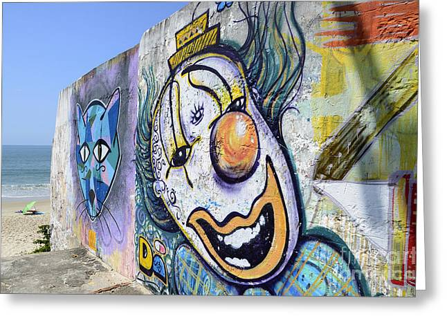 Urban Images Greeting Cards - Graffiti Art Santa Catarina Island Brazil 1 Greeting Card by Bob Christopher