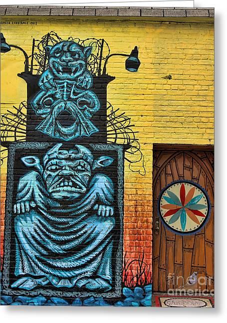 Nyc Graffiti Greeting Cards - Graffiti Art V Greeting Card by Chuck Kuhn