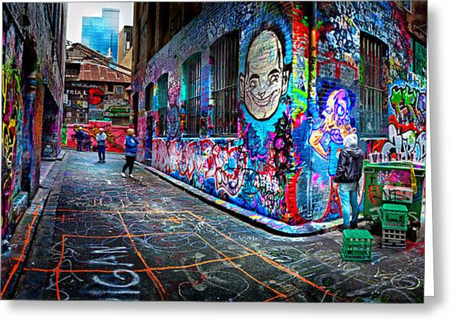 Victoria Photographs Greeting Cards - Graffiti Artist Greeting Card by Az Jackson