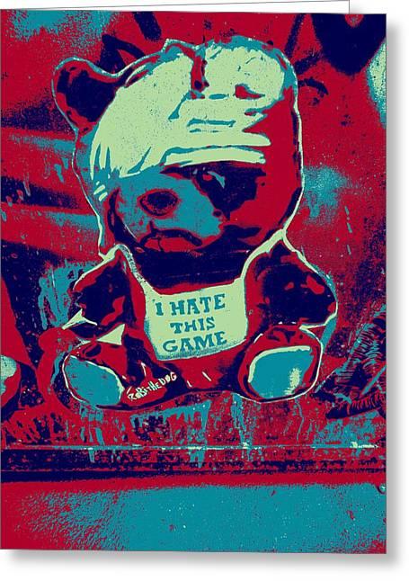Hip Hop Bear Greeting Cards - Graffiti Bear Greeting Card by FL collection