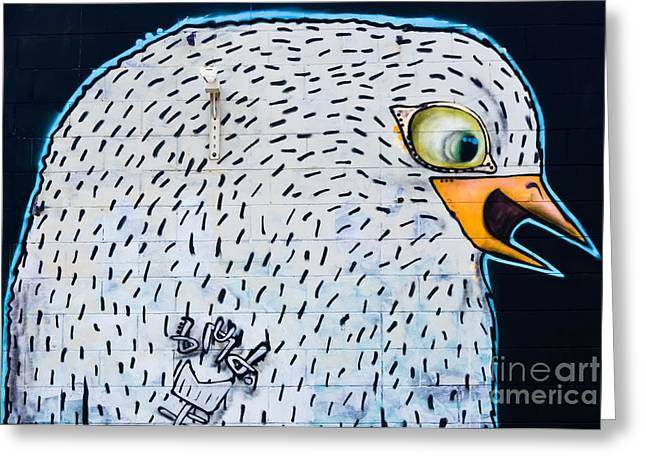Aerosol Paintings Greeting Cards - Graffiti Bird Greeting Card by Yurix Sardinelly