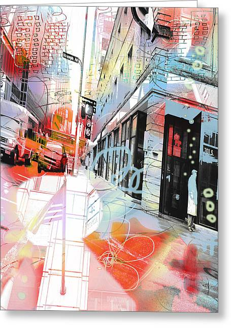 Hennepin Greeting Cards - Graffiti City Greeting Card by Susan Stone