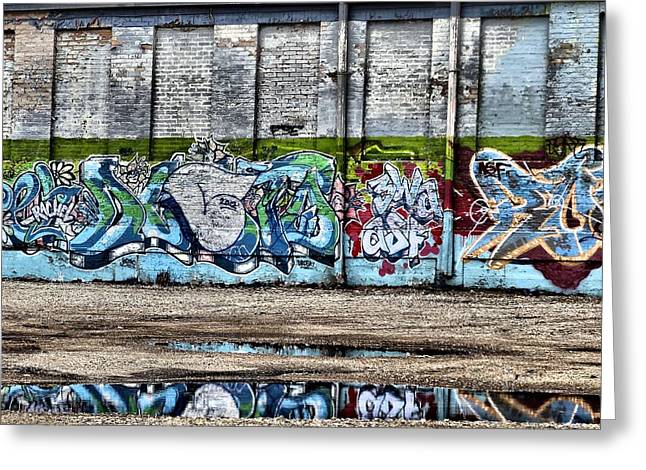 Size D Greeting Cards - Graffiti Greeting Card by Dan Sproul