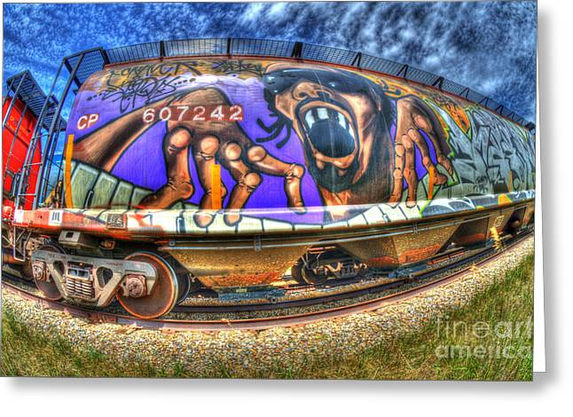 Boxcar Greeting Cards - Graffiti Genius 1 Greeting Card by Bob Christopher