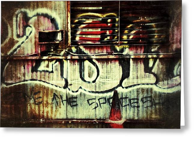 Graffiti Photographs Greeting Cards - Graffiti  Greeting Card by Jeff Klingler