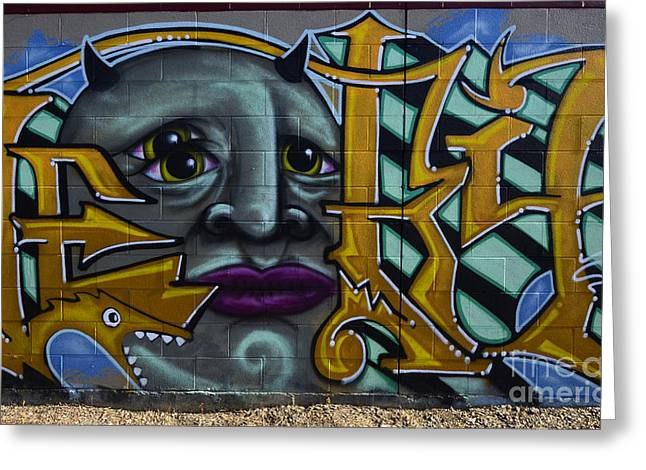 Graffiti North Battleford Greeting Card by Bob Christopher