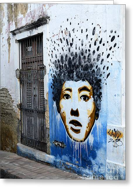 Messaging Greeting Cards - Graffiti Olinda Brazil 1 Greeting Card by Bob Christopher