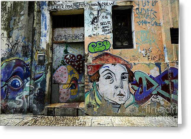 Messaging Greeting Cards - Graffiti Recife Brazil 10 Greeting Card by Bob Christopher