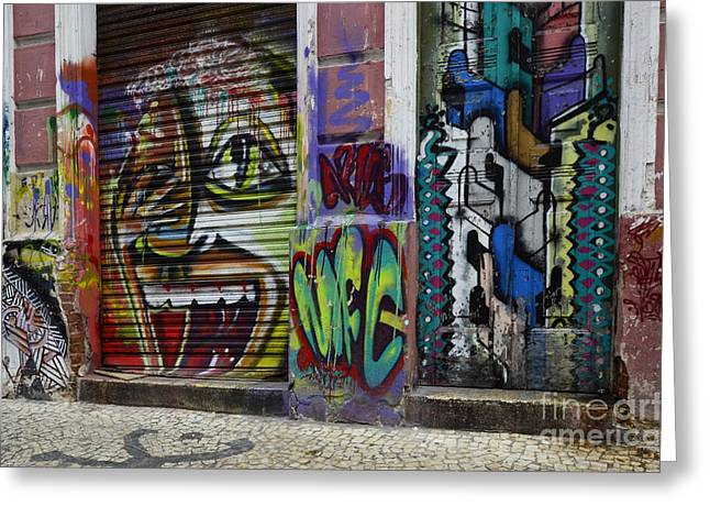 Messaging Greeting Cards - Graffiti Recife Brazil 2 Greeting Card by Bob Christopher