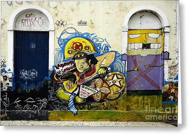 Messaging Greeting Cards - Graffiti Recife Brazil 5 Greeting Card by Bob Christopher