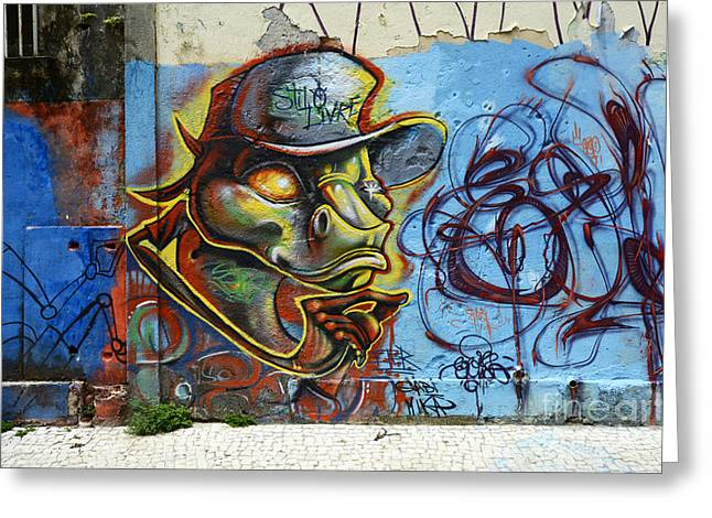 Messaging Greeting Cards - Graffiti Recife Brazil 6 Greeting Card by Bob Christopher