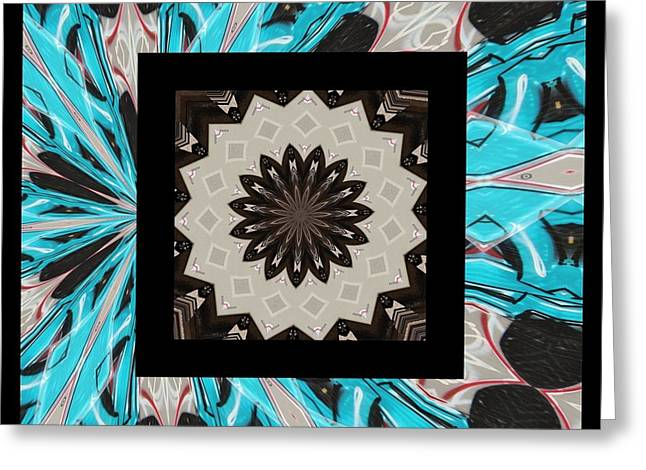 Abstract Digital Jewelry Greeting Cards - Graffiti - Reign V Greeting Card by Graffiti Girl