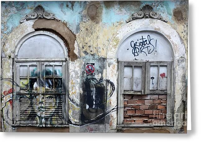 Messaging Greeting Cards - Graffiti Salvador Brazil 12 Greeting Card by Bob Christopher
