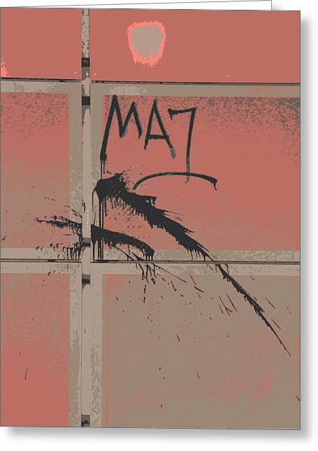 Inversion Greeting Cards - Graffiti Series Four Greeting Card by A K Dayton