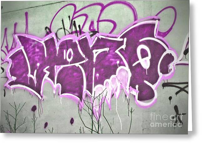 Becky Digital Art Greeting Cards - Graffiti Three Greeting Card by Becky Hayes