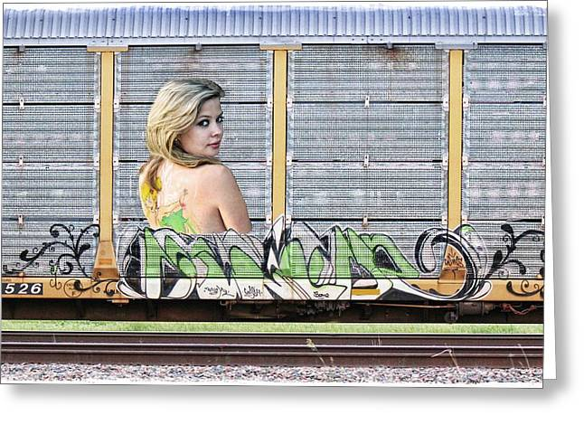 Graffiti - Tinkerbell Greeting Card by Graffiti Girl
