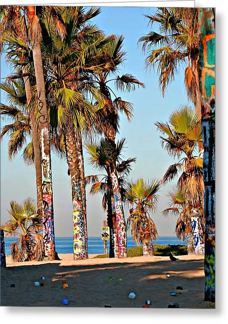 Graffiti Trees Greeting Card by Art Block Collections