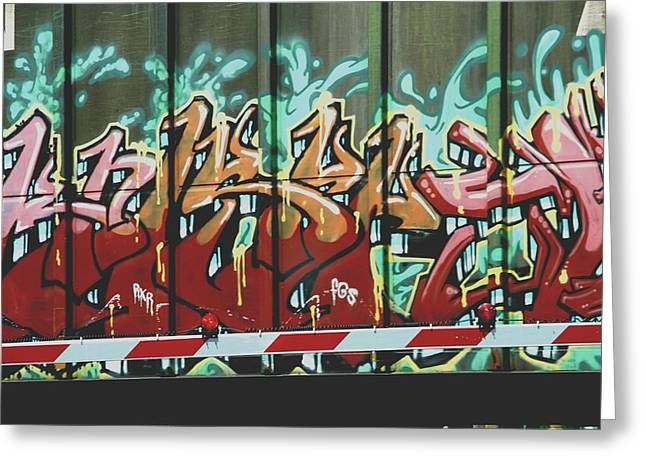 Hobo Greeting Cards - Graffiti Train Greeting Card by Dan Sproul