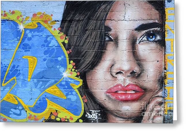 Urban Images Greeting Cards - Grafitti Art Calama Chile Greeting Card by Bob Christopher