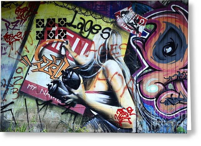 Urban Images Greeting Cards - Grafitti Art Florianopolis Brazil 1 Greeting Card by Bob Christopher