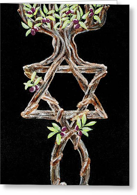Messianic Greeting Cards - Grafted In Greeting Card by Cheryl Hymes
