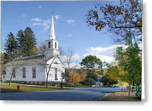 Grafton Vermont Greeting Cards - Grafton Church Greeting Card by David Birchall