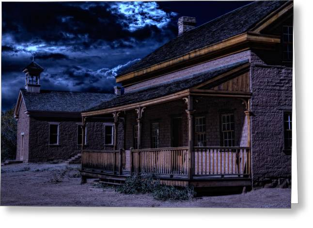Abandoned School House. Greeting Cards - Grafton ghost town in southern Utah Greeting Card by Utah Images