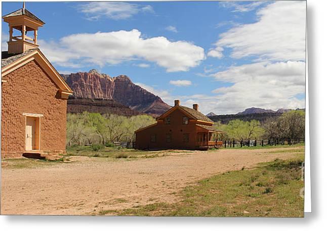 Grafton Greeting Cards - Grafton Utah Butch Cassidy Movie Set Panorama Greeting Card by Jack Schultz