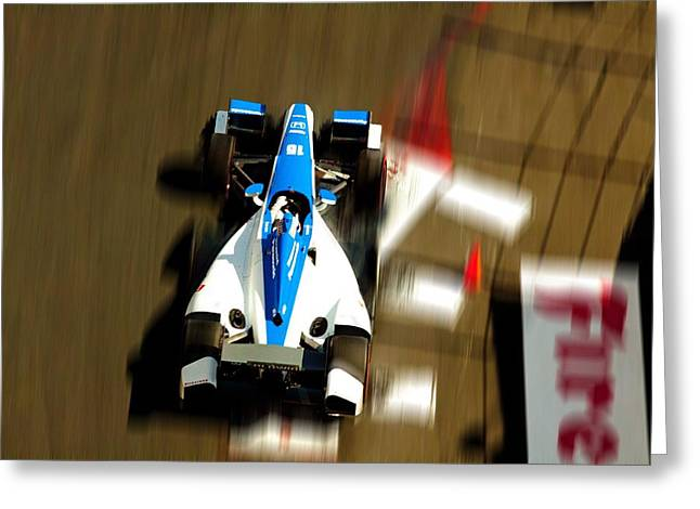 Izod Indy Car Greeting Cards - Graham Rahal Indy Racer Greeting Card by Denise Dube