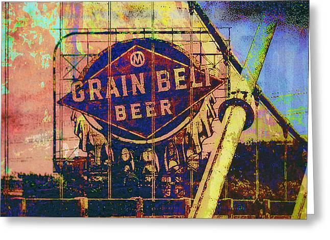 Minnesota Photo Greeting Cards - Grain Belt Beer Greeting Card by Susan Stone