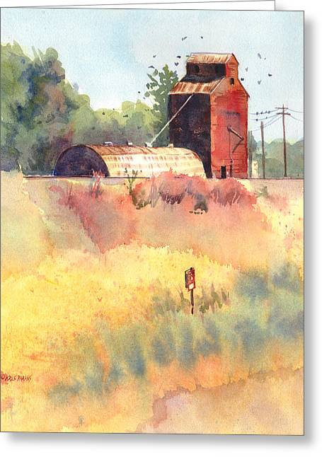 Grain Elevator Greeting Cards - Grain Elevator Greeting Card by Kris Parins
