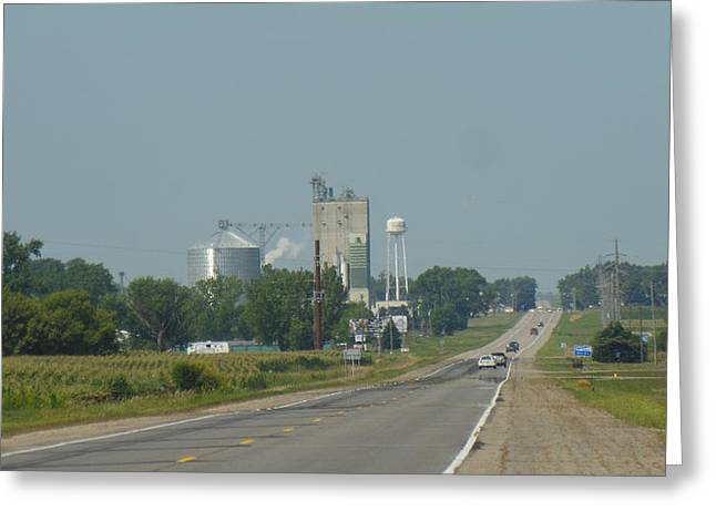 At Work Greeting Cards - Grain Elevator Greeting Card by Linda Gonzalez