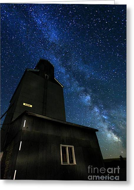 © Beve Brown-clark Greeting Cards - Grain Elevator  Greeting Card by Reflective Moments  Photography and Digital Art Images