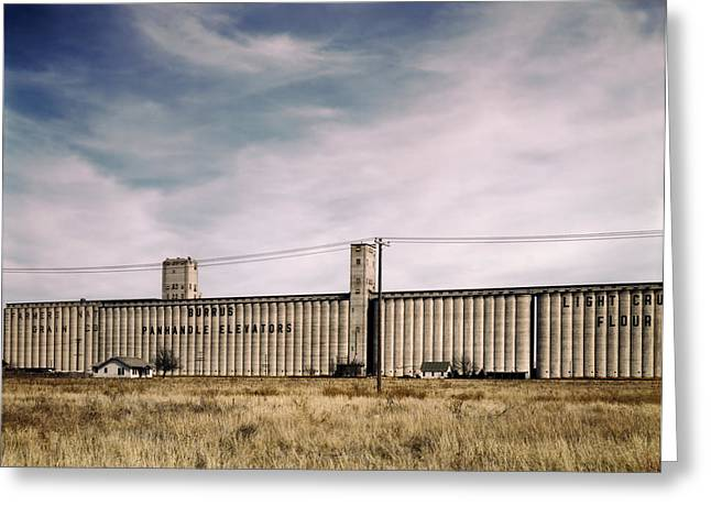 Amarillo Greeting Cards - Grain Elevators in Amarillo 1943 Greeting Card by Mountain Dreams
