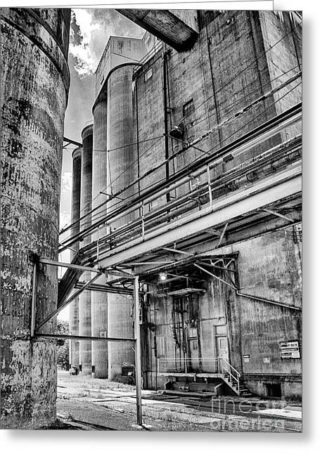 Grain Mill Greeting Cards - Grain Mill Silo Greeting Card by Paul W Faust -  Impressions of Light