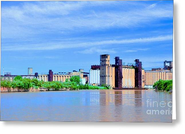 Struckle Greeting Cards - Grain Mills Greeting Card by Kathleen Struckle