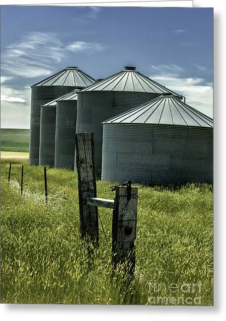 Openness Greeting Cards - Grain Silos  Greeting Card by Thomas Schoeller