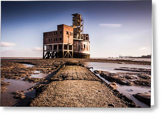 Grained Greeting Cards - Grain Tower battery. Greeting Card by Ian Hufton