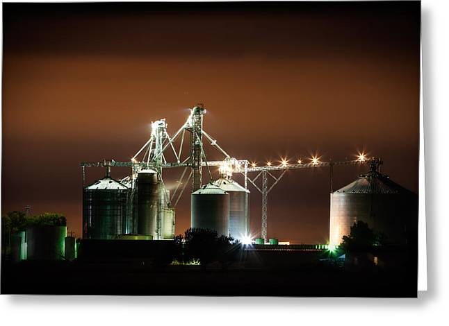 Historic Country Store Greeting Cards - Grainland Cooperative Elevator Greeting Card by Jim Finch