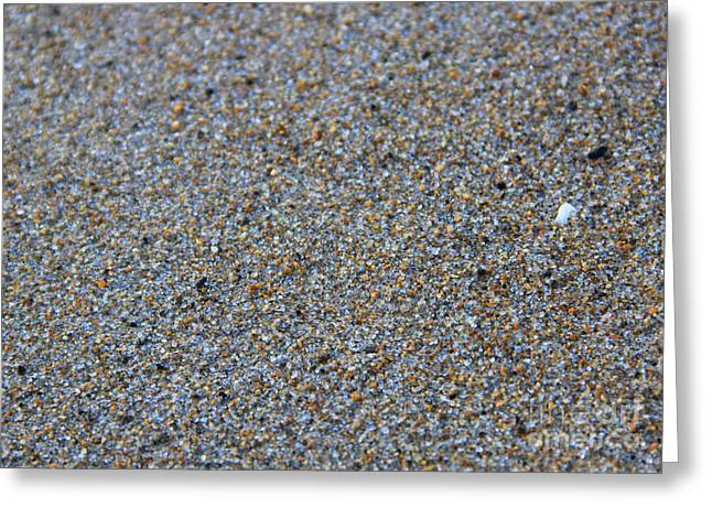 Grainy Sand Greeting Card by Michael Mooney