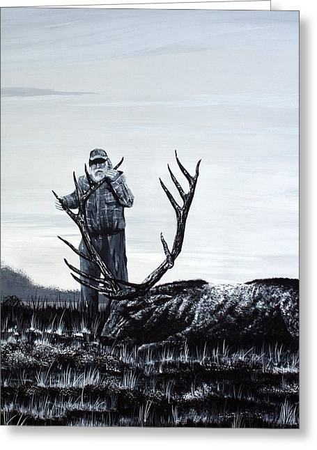 Grampa Greeting Cards - Grampas Buck Greeting Card by George Fagnan