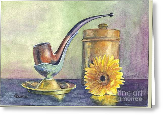 Pastimes Greeting Cards - Grampas Pipe Greeting Card by Carol Wisniewski