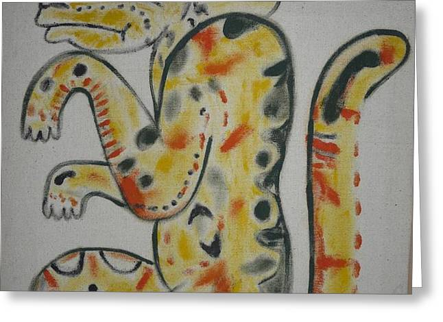 Gran Jaguar Greeting Card by JUAN FRANCISCO ZELEDON