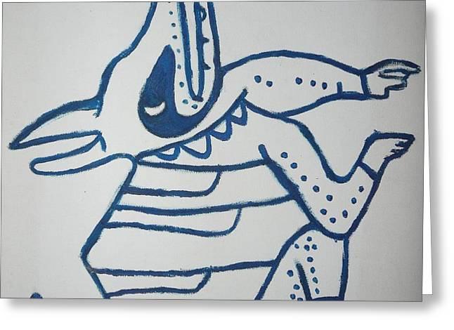 Gran Jaguar V Greeting Card by JUAN FRANCISCO ZELEDON