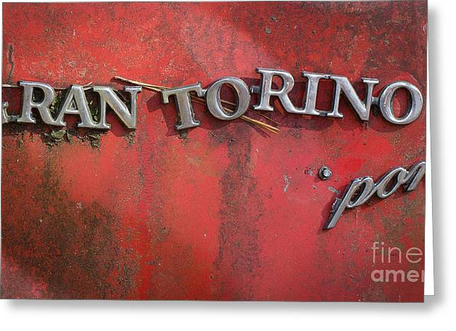 Rusted Cars Greeting Cards - Gran Torino Greeting Card by Caisues Photography