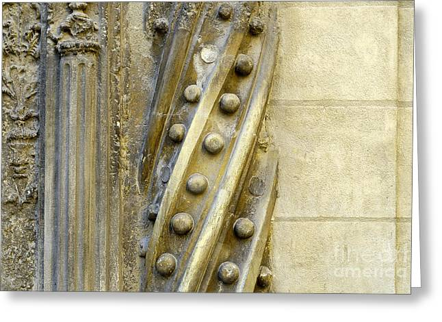 Granada Cathedral Doors And Other Details Greeting Card by Guido Montanes Castillo